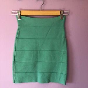 BCBG MAXAZRIA green skirt - XXS